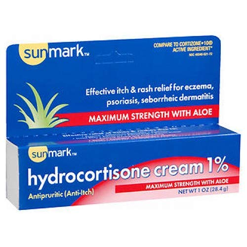 Sunmark Sunmark Hydrocortisone Cream 1% Maximum Strength With Aloe, 1 oz by Sunmark (Image #1)