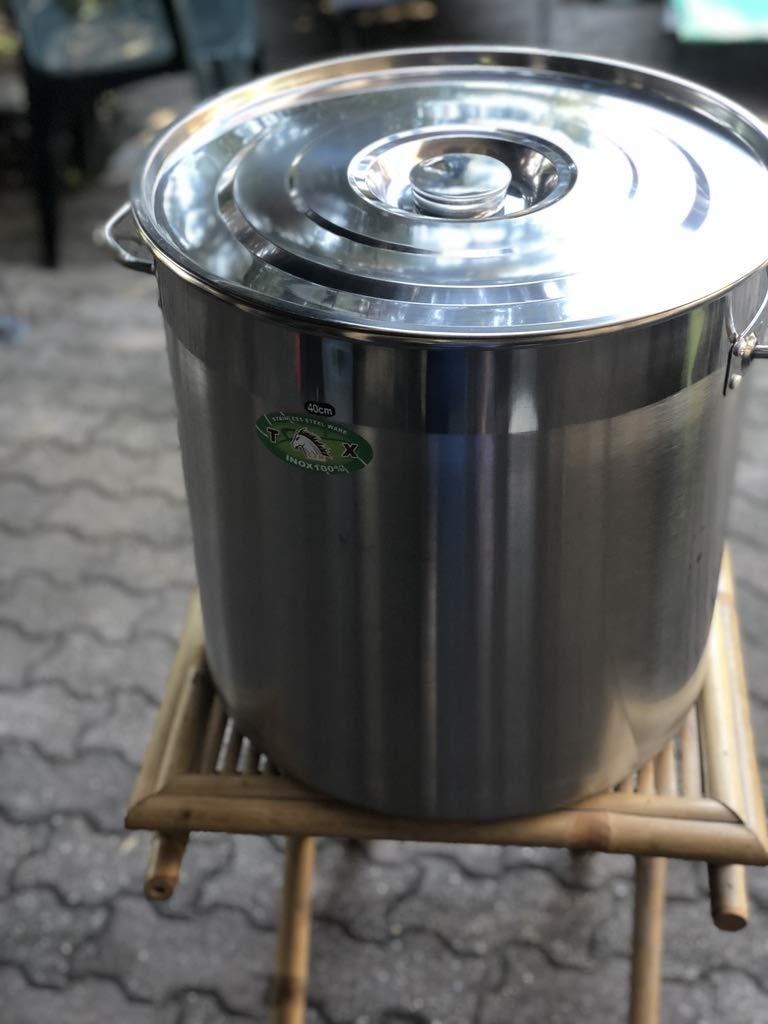 G/én/érique Faitout Marmite avec Robinet 50 litres INOX Grande capacit/é Ideal Brassage Biere