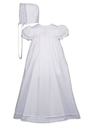 78db7761daf22 Amazon.com: Baby Girls White Cotton Victorian Style Bonnet ...