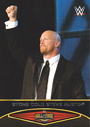2015 Topps WWE Road to Wrestlemania Hall of Fame #23 Stone Cold Steve Austin