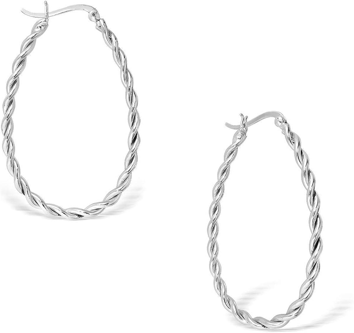 WithLoveSilver 925 Sterling Silver Geometry Hanging Double Drop Shape Ball Stud Earrings