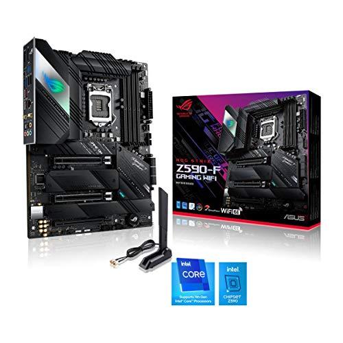 ASUS ROG Strix Z590-F Gaming WiFi Mainboard Socket Intel LGA 1200 (Intel Z590, ATX, 4x M.2, PCIe 4.0, USB 3.2 Gen 2×2…