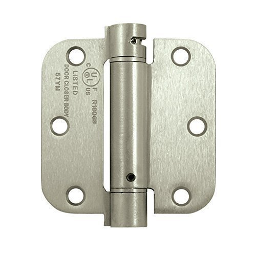 Deltana DSH35R515 Single Action Steel 3 1/2-Inch x 3 1/2-Inch x 5/8-Inch Spring Hinge