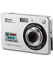 """AbergBest 21 Megapixel 2,7""""LCD wiederaufladbare HD Digitalkamera Digitale Videokamera Studentenkamera Indoor Outdoor für Erwachsene/Senioren/Kinder (Silber)"""