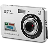 "Aberg Best 21 Mega Pixels 2.7"" LCD Rechargeable HD Digital Camera,Video camera Digital Students cameras,Indoor Outdoor for Adult/Seniors/Kids (Silver)"