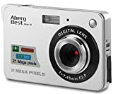 AbergBest 21 Mega Pixels 2.7'' LCD Rechargeable HD Digital Camera Video camera Digital Students cameras,Indoor Outdoor for Adult/Seniors / Kid (Silver)