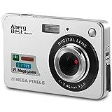 "Aberg Best 21 Mega Pixels 2.7"" LCD Rechargeable HD Digital Camera,Video camera Digital Students cameras,Indoor Outdoor for Adult/Seniors/Kids (Silver)"