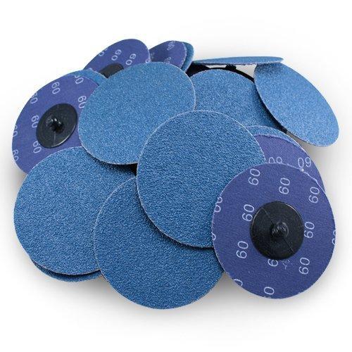 3 Roloc Zirconia Quick Change Sanding Discs 60 Grit 25 Pack