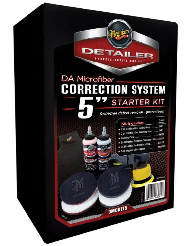Meguiar's DA Microfiber Correction System 5'' Starter Kit – Complete Paint Correction Kit – DMCKIT5 by Meguiar's (Image #1)