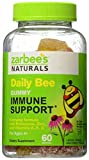 Zarbee's Naturals Daily Bee Gummy Immune Support Everyday Formula Dietary Supplement with Echinacea, Zinc, and Vitamins A, E, & C, Lemon, Orange & Cherry Flavors, 60 Gummies