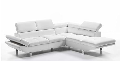 Divano Angolare Bianco.Casarreda Store Divano Angolare Mod Flavia Con Penisola Dx