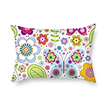 PILLO Butterfly pillow covers ,best for father,bench,play room,car seat,office,bedding 16 x 24 inches / 40 by 60 cm(2 sides)