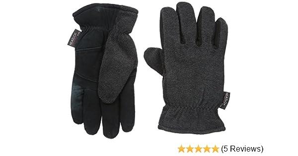 HeatLok THERMAL Insulated-DeerSkin Suede Leather-Warm Gloves-Black XL