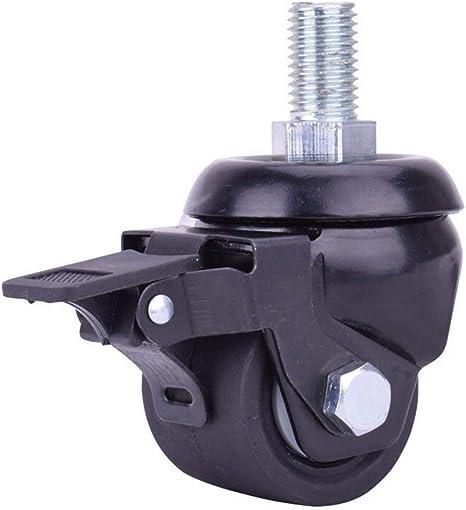 2,5//3 pouces pivotant /à vis robuste silencieux Castor vis en alliage de zinc 360 Roues Duty dappui solide de la charge de roue de frein de meubles Char Essentials Bricolage d/ém/énagement casters/_2
