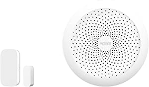 Aqara Door and Window Sensor plus Hub, REQUIRES AQARA HUB, Zigbee Connection, Wireless Mini Contact Sensor for Alarm System and Smart Home Automation, Compatible with Apple HomeKit, Alexa