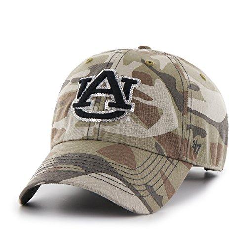 '47 NCAA Auburn Tigers Women's Sparkle Camo Clean Up Hat, Women's, Faded Camo