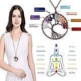 NIUTA Tree of Life Natural Healing Crystals Quartz