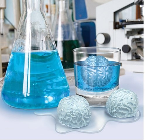 Ships From USA 3 Pack Brain Ice Cube Chocolate Soap Tray Mold Silicone Party maker