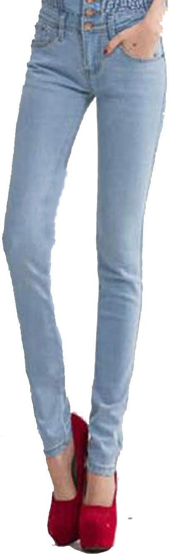 Jeans Pantalones Largos De Mezclilla Para Mujer Cintura Alta Elasticos Talla 40 Para Mujer Vaqueros Azul Claro 27 Amazon Com Mx Ropa Zapatos Y Accesorios