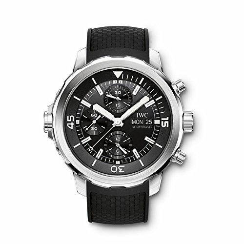 IWC IWC Aquatimer Cronógrafo Negro Dial Negro Goma Mens Reloj