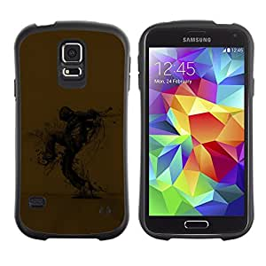 Suave TPU Caso Carcasa de Caucho Funda para Samsung Galaxy S5 SM-G900 / Abstract Scarecrow / STRONG