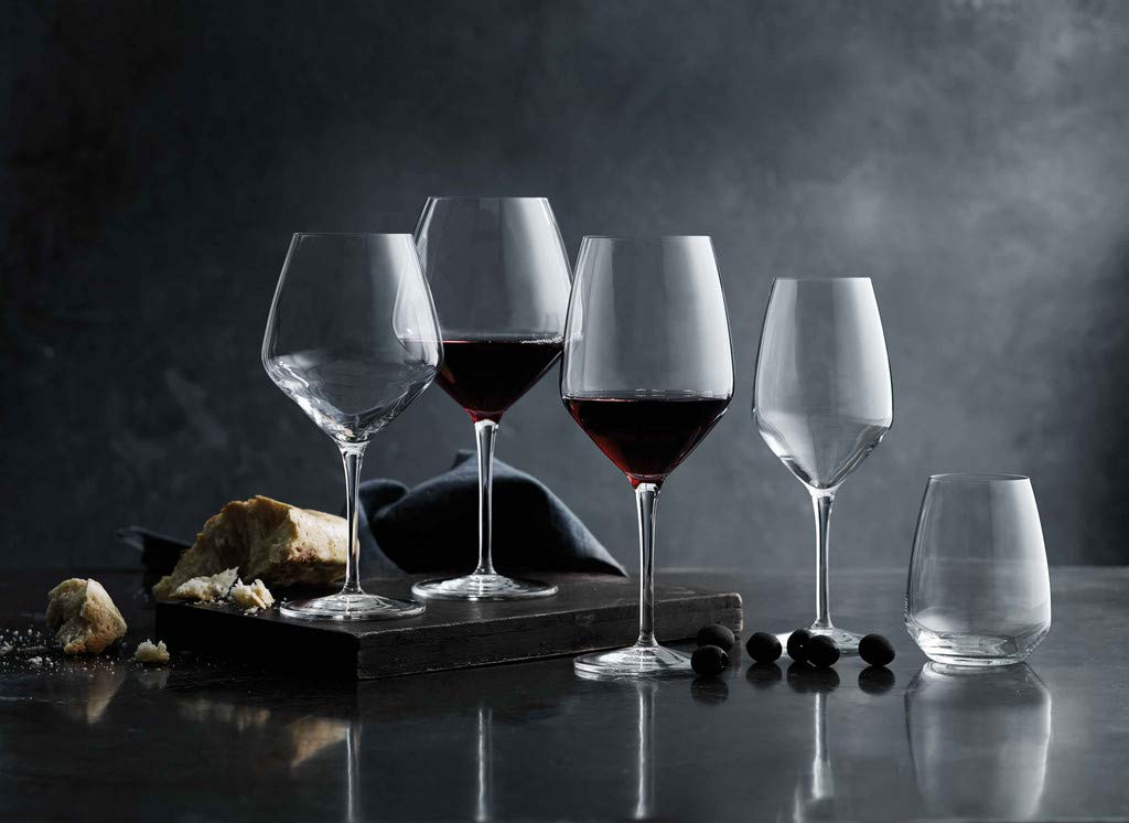 Luigi Bormioli Atelier Stemless Cabernet Wine Glass 23-1/4-Ounce, Set of 6