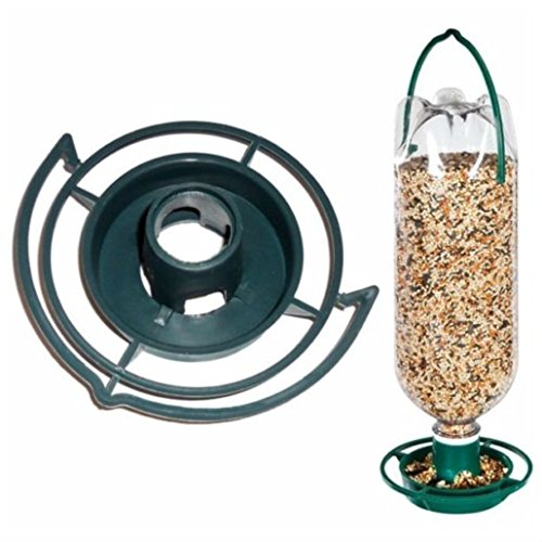 (HANGING SODA BOTTLE BIRD FEEDER KIT Wild Top Pop Seed Platform Catcher Garden)
