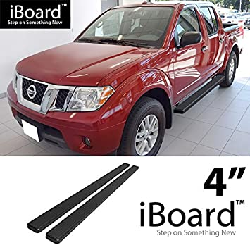 EBoard Running Boards Black 4u0026quot; Fit 2005 2018 Nissan Frontier Crew Cab Pickup  4