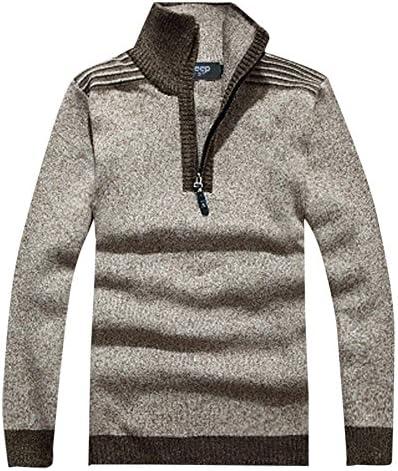 ニット メンズ ハーフジップ セーター ニットセーター スリム 大きいサイズ カジュアル 無地 長袖 春秋