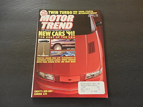 Motor Trend Oct 1990 Lumina Z34; Park Avenue; Caprice; Dodge Stealth