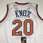 e4672bacd703 Autographed Signed Kevin Knox New York White Basketball Jersey JSA COA