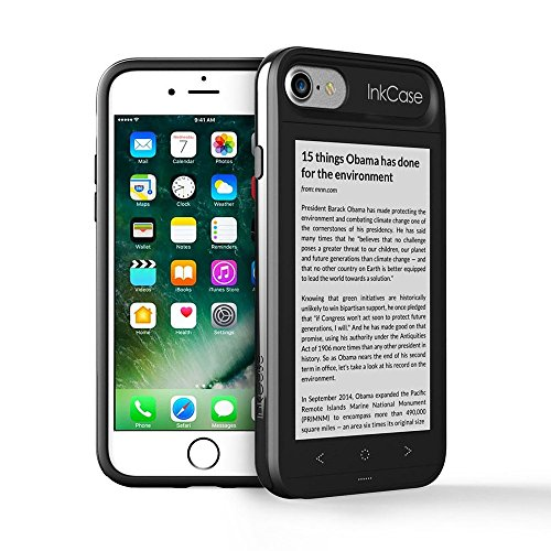 Oaxis Inkcase i7- E Ink Reader for iPhone 7/8 Unique Smart Bluetooth Second Screen Case for iPhone 7 with Drop Resistance/eBooks/News/Pocket App Integration/Notes and More (Refurbished) (Oaxis Ereader)