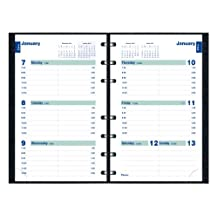 Blueline 2013 CoilPro MiracleBind Weekly Planner, Twin-Wire, Black, 8 x 5 Inches, Hard Cover with Twin-Wire Binding, Includes Repositionable Notes Pages (CF5075C.81-13)