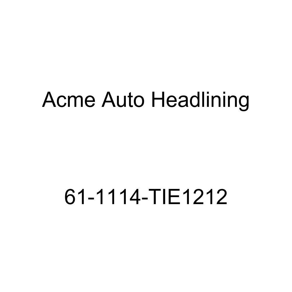 Acme Auto Headlining 61-1114-TIE1212 Dark Blue Replacement Headliner 1961 Buick Invicta /& Lesabre 4 Door Hardtop 5 Bows