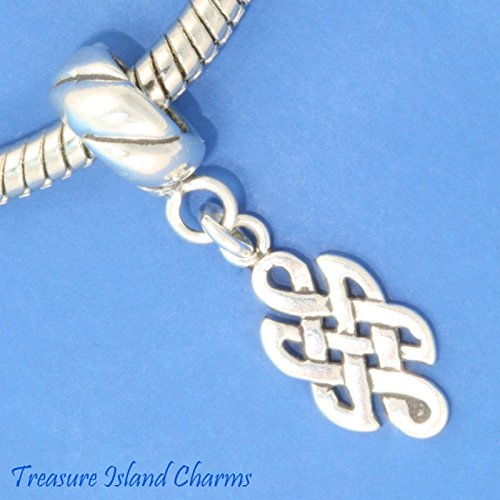 Celtic Endless Knot .925 Solid Sterling Silver European Euro Dangle Bead Charm Ideal Gifts, Pendant, Charms, DIY Crafting, Gift Set from Heart by Wholesale Charms