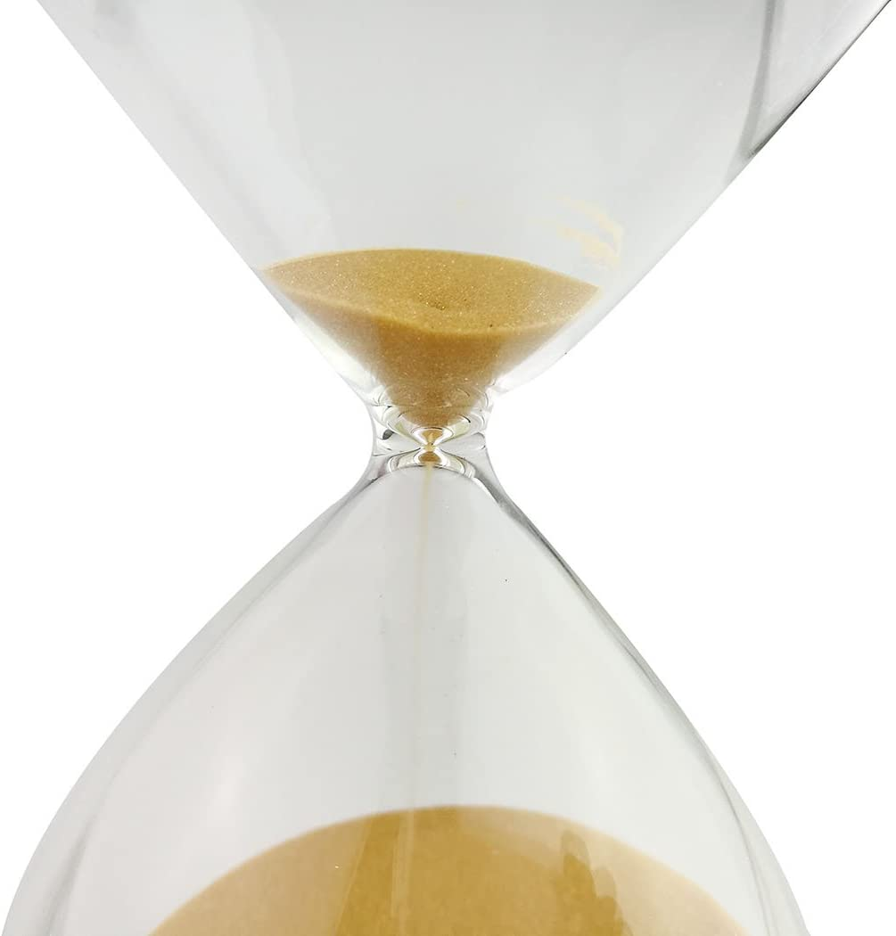 Brown, 5 Minutes Large Fashion Colorful Sand Glass Sandglass Hourglass Timer Clear Smooth Glass Measures Home Desk Decor Xmas Birthday Gift