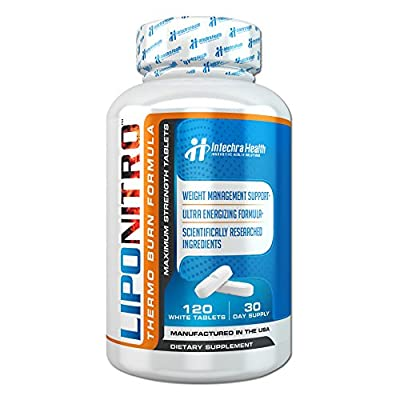 LipoNitro™ Maximum Strength Thermo-Burn Weight Management Diet Pills with Nitro Energy - Scientifically Researched Ingredients - Highest Quality Dietary Supplement Manufactured in USA - 120 Tablets