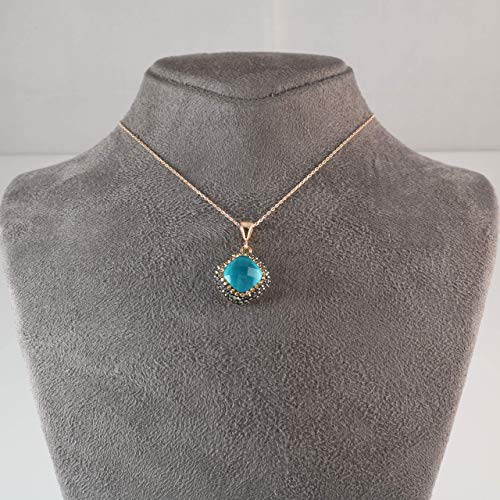 Buy vintage turquoise gold pendant