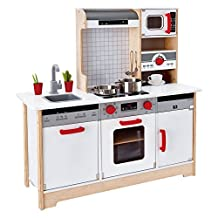 Hape E3145 Kids All-in-1 Wooden Play Kitchen with Accessories