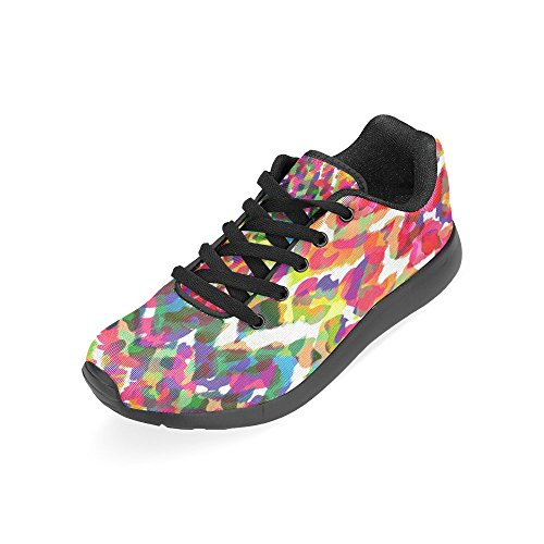 Interestprint Femmes Jogging Running Sneaker Léger Aller Confort De Marche Facile Sport Chaussures De Sport Cool Motif Coloré