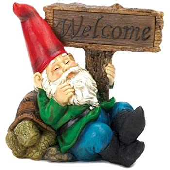 Amazonm  Verdugo Gift Co Welcome Gnome Solar Light. Contemporary Ceiling Fan. Sunrooms Pictures. Yellow Chandelier. Portable Fireplace. The Home Company. Rustic Wet Bar. A1 Kitchen And Bath. Kitchen Islands For Sale