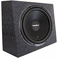 Rockford Fosgate R1S4-12 12 Prime 300 Watt 4-Ohm SVC Subwoofer + Sealed Box