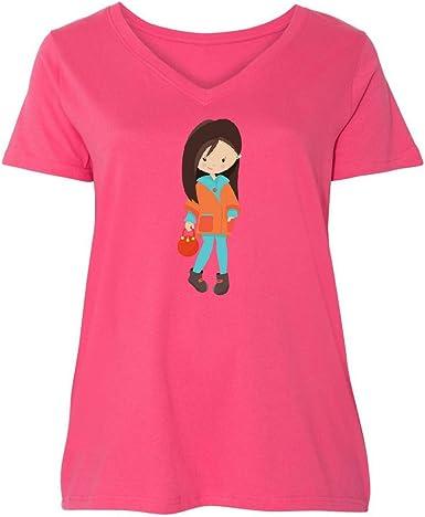 inktastic Fashion Girl Boots Toddler T-Shirt Brown Leggings Orange Hair