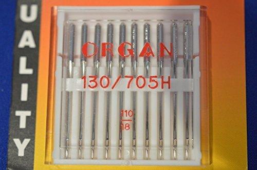 /Órgano Agujas para m/áquina de coser tama/ño 110//18/10/agujas