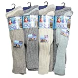 IMTD - I'm Totally Different Women's 6Pairs Long Wool Winter Walking Boot Socks One Size Assorted