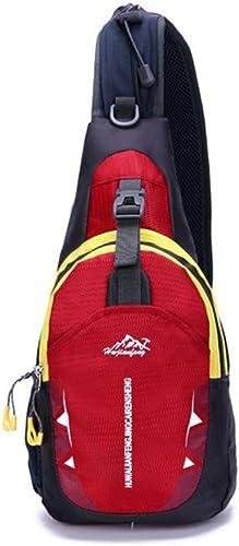 STRIR Pecho Sling Bag Pack, hombro Crossbody Mochila de senderismo deporte mochila bolso de mano mochila de bicicleta para hombres mujeres Chico chica adolescentes (Rojo): Amazon.es: Zapatos y complementos