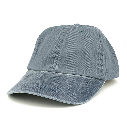 Armycrew Low Profile Plain Washed Pigment Dyed 100% Cotton Twill Dad Cap - Navy (Twill Dyed Solid Cap Pigment)