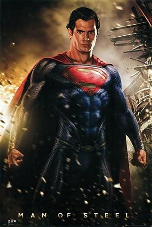 "Superman Man of Steel 24"" x 36"" Poster Print"