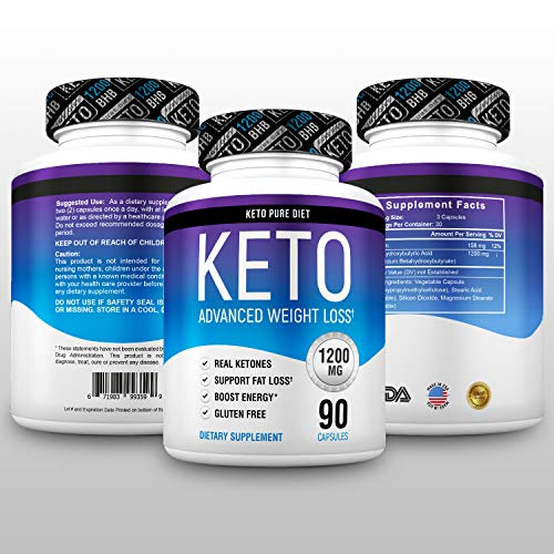 Keto Pure Diet Pills - Ketogenic Diet Supplement - Boost Energy and Metabolism - Keto Slim Supplement for Men and Women - 90 Capsules by Keto Pure Diet (Image #1)