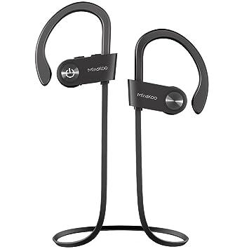 Auriculares Inalámbricos Bluetooth IPX6 a Prueba de Agua, Auriculares Deportivos Ligeros y Sonido HD, Cancelación de Ruido, Mic Incorporado para iPhone, ...